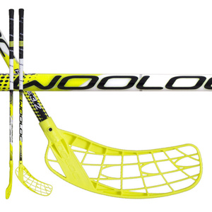 Florbalová palica WOOLOC FORCE 3.2 yellow 87 ROUND NB, Wooloc