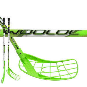 Florbalová palica WOOLOC PLAYER 3.2 green 75 ROUND NB, Wooloc