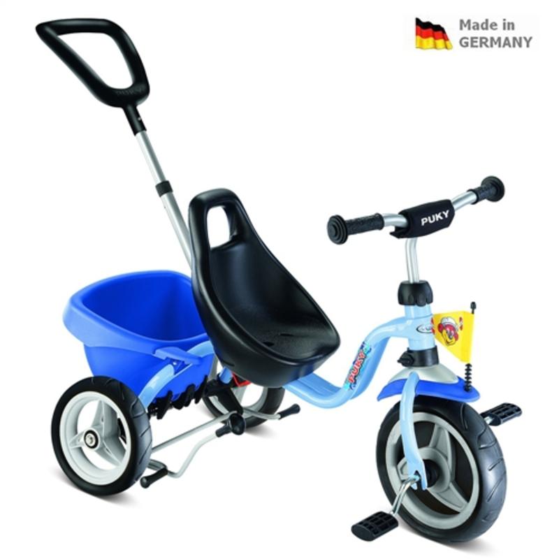 Detská červená trojkolka Carry Touring Tipper CAT 1 S modrá 2326