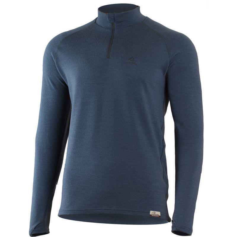Merino Mikina Lasting WIRY 5659 vlnená modrá XL
